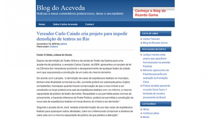 Blog do Aceveda