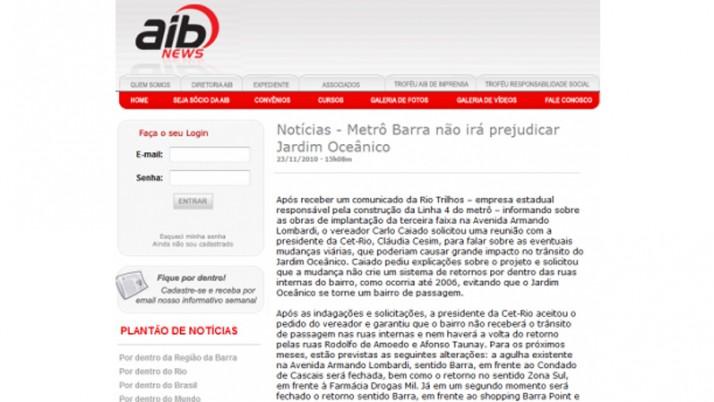 Notícias – Metrô Barra não irá prejudicar Jardim Oceânico