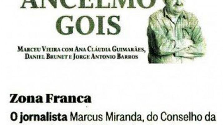 Caiado entrega medalhas ao jornalista Marcus Miranda