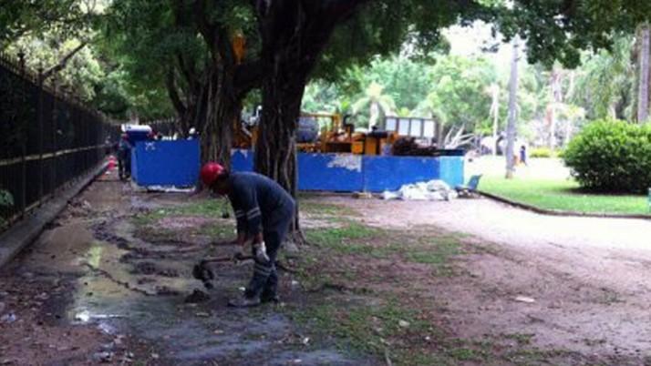 Praça Nossa Senhora da Paz começa a receber obras do metrô