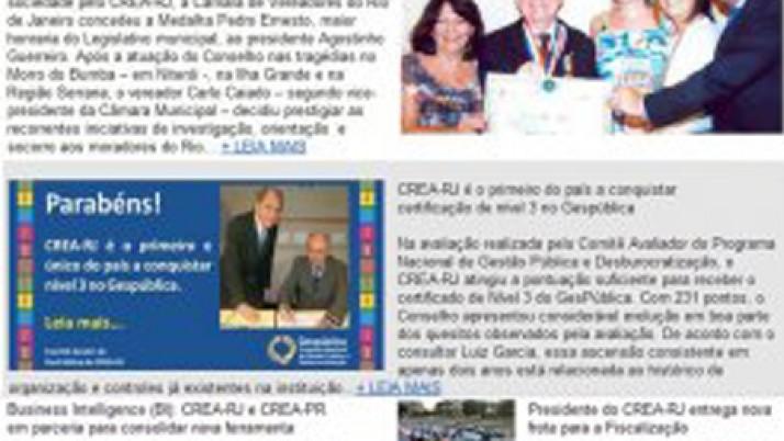 Caiado é destaque em Informativo do Crea-RJ