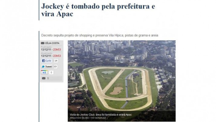 Tombamento da Vila Hípica do Jockey