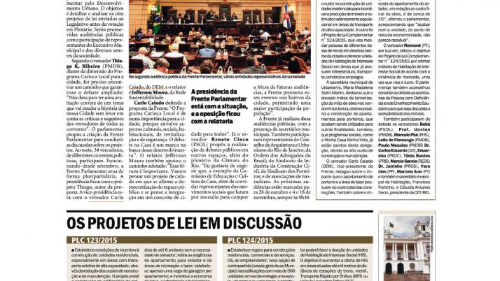 Jornal O Dia: Câmara discute o Carioca Local