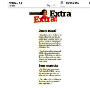 Extra, Extra! Quiosques da Barra