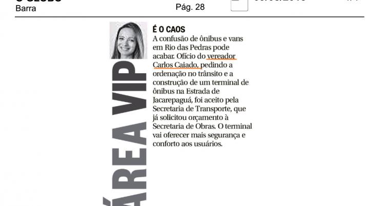 O Globo Barra: Organização no Trânsito de Rio das Pedras