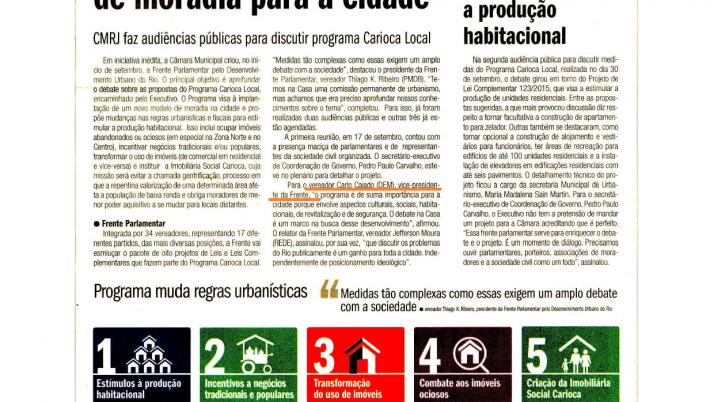 O Globo: Vem aí um novo modelo de moradia para a cidade