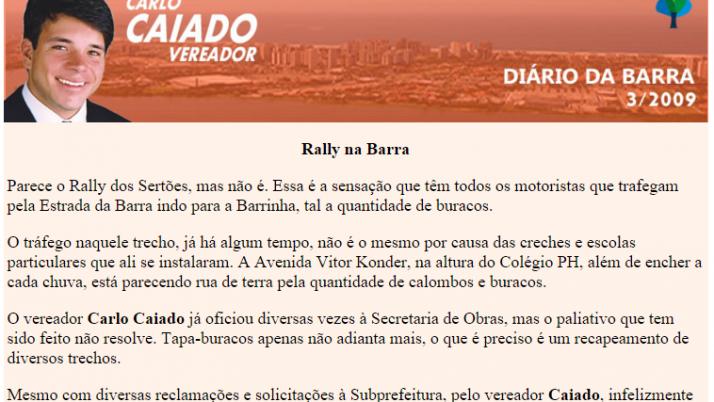 Diário da Barra 07/2009