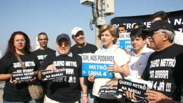 Caminhada na Barra da Tijuca pede Linha 4 do Metrô