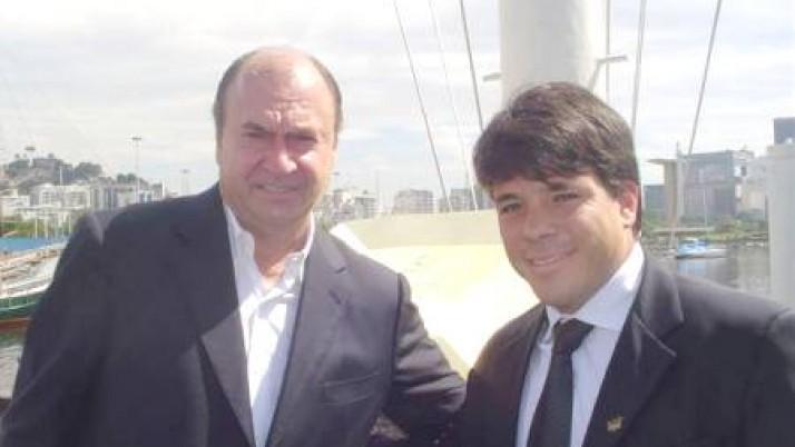 Carlo Caiado acompanha o prefeito Cesar Maia em inspeção às obras do Pan 2007