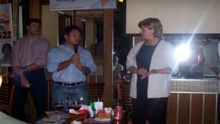 Caiado promove encontro de Solange Amaral com empresários