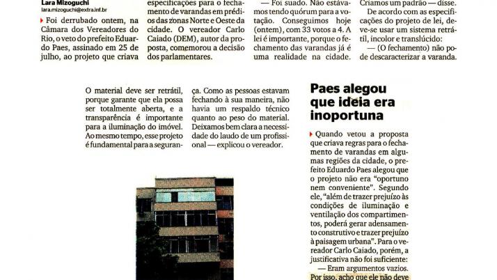 Extra: Caiado comemora aprovação de Lei que garante fechamento de varandas
