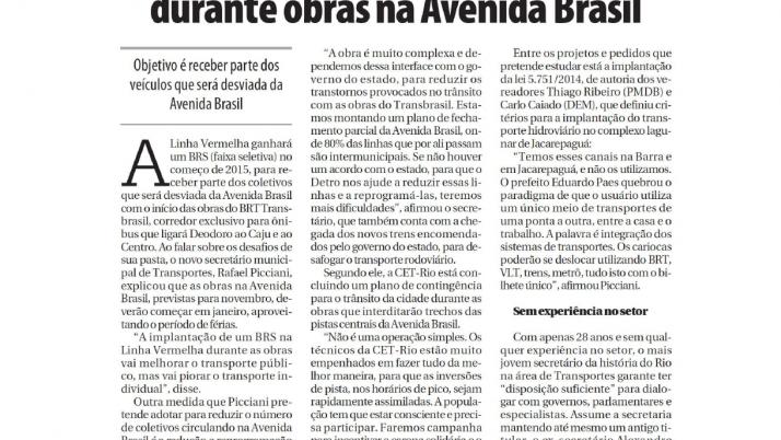 Povo do Rio: Projeto de Lei do Vereador Carlo Caiado pretende implantar BRS na Linha Vermelha