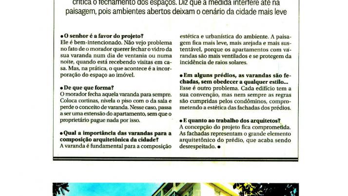 O Globo:  Lei de Caiado que prevê fechamento de Varandas é aprovado pela Câmara do Rio