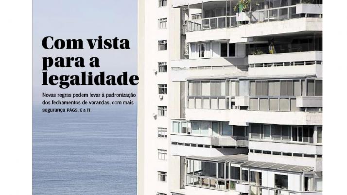 O Globo Barra: Projeto de Lei do Vereador Carlo Caiado pretende fechar varandas no Rio