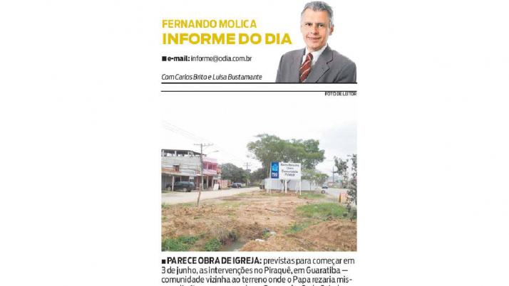 Informe O Dia: Caiado Cobra à Prefeitura cronograma de Obras em Guaratiba