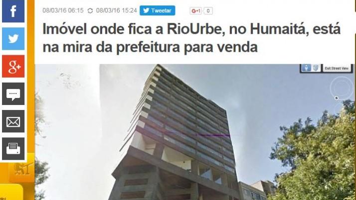 Caiado questiona a  inclusão de sede da Rio Urbe no projeto de lei que pretende alienar imóveis do Município