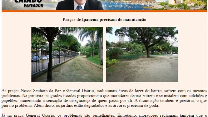 Ver. Carlo Caiado – Diário de Ipanema 06/2011