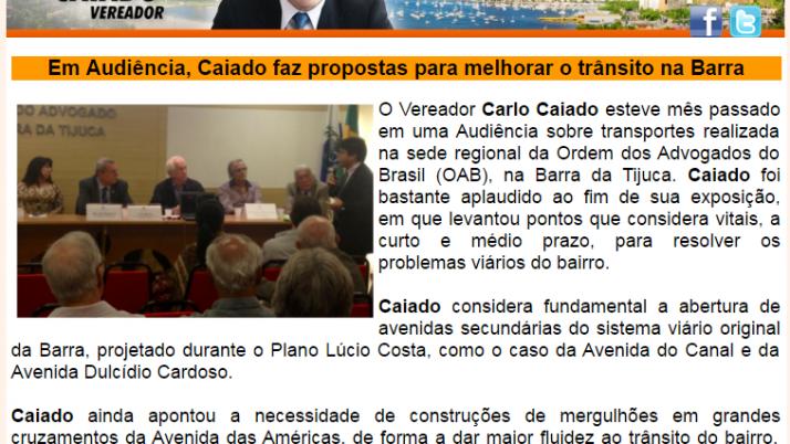 Ver. Carlo Caiado – Diário da Barra 05/2013