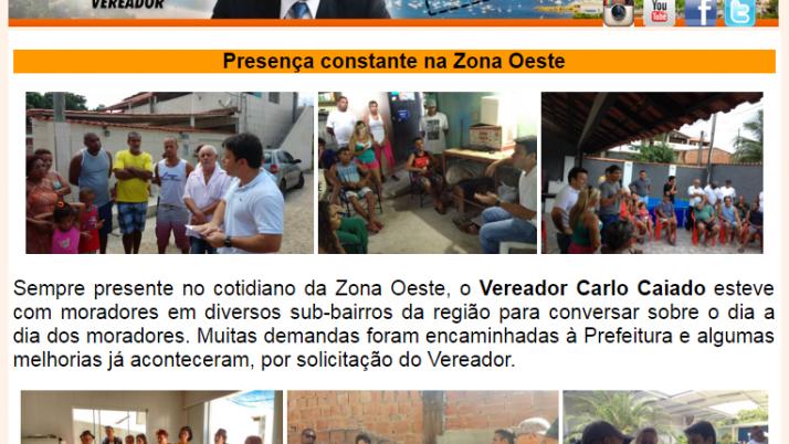 Ver. Carlo Caiado – Diário da Zona Oeste 04/2016