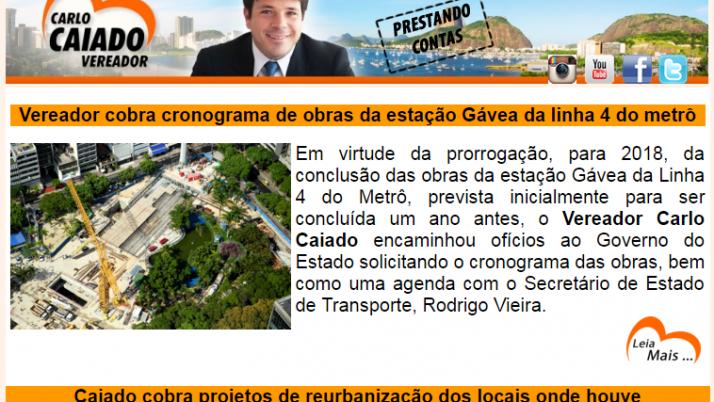 Ver. Carlo Caiado – Diário da Zona Sul 04/2016