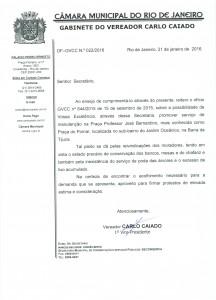 GVCC022_01_2016_SECONSERVA_Reiterando OF_GVCC_644_2015_Manutenção_Pça_do Pomar_Barra da Tijuca