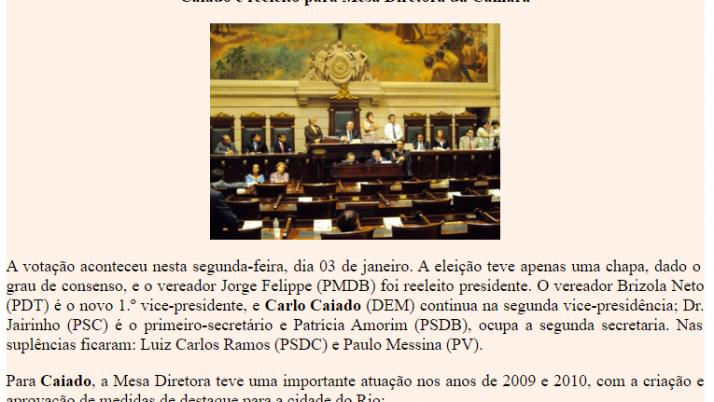 Ver. Carlo Caiado – 01/2011