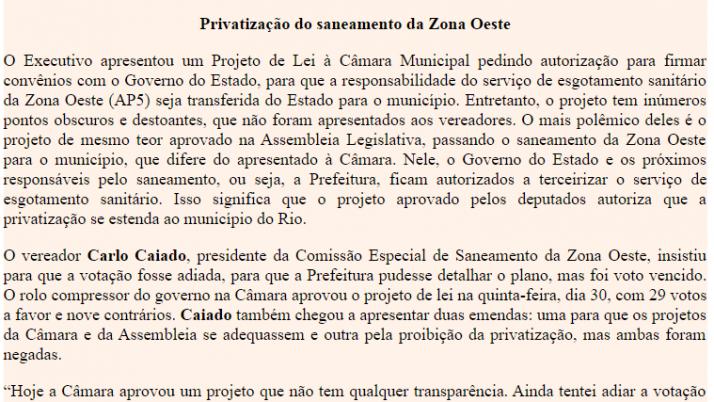 Ver. Carlo Caiado – 07/2011