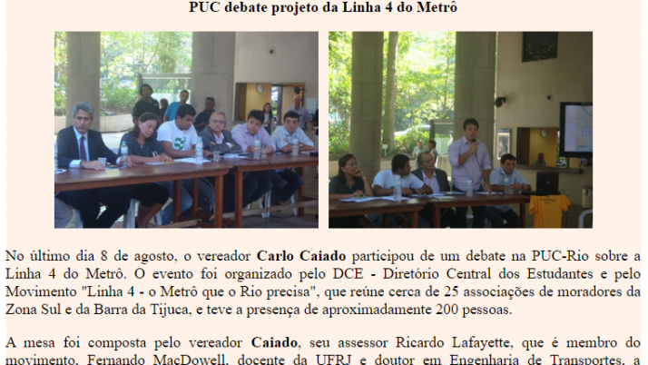 Ver. Carlo Caiado – 08/2011