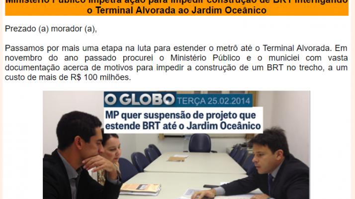 Ver. Carlo Caiado – Diário da Barra 02/2014