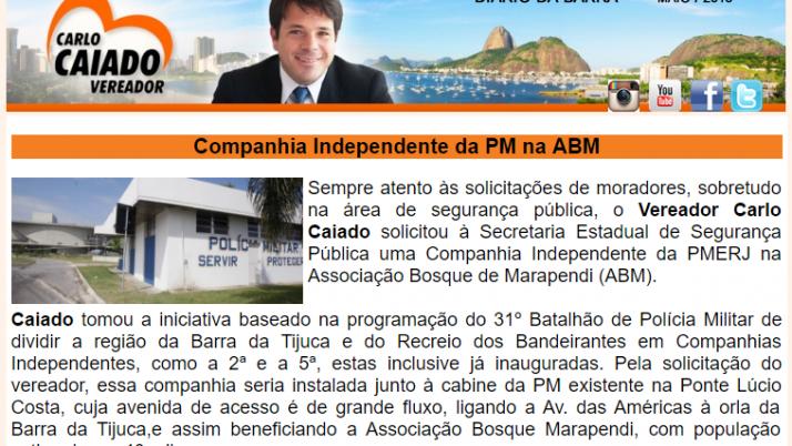 Ver. Carlo Caiado – Diário da Barra 05/2015