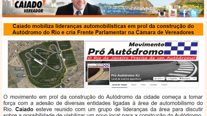 Ver. Carlo Caiado – Diário da Barra 06/2015