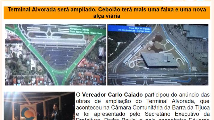Ver. Carlo Caiado – Diário da Barra 09/2015