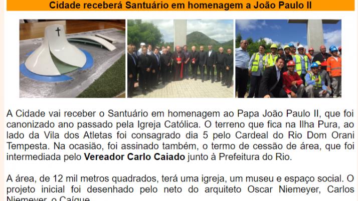 Ver. Carlo Caiado – Diário da Barra 11/2015