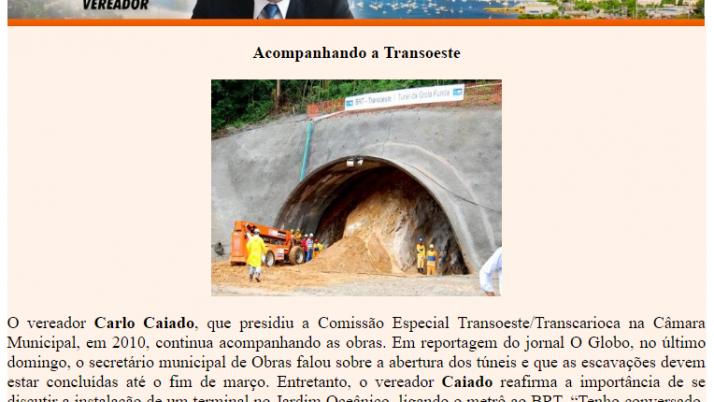 Ver. Carlo Caiado – Diário do Recreio 01/2011