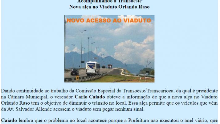 Ver. Carlo Caiado – Diário do Recreio 03/2012
