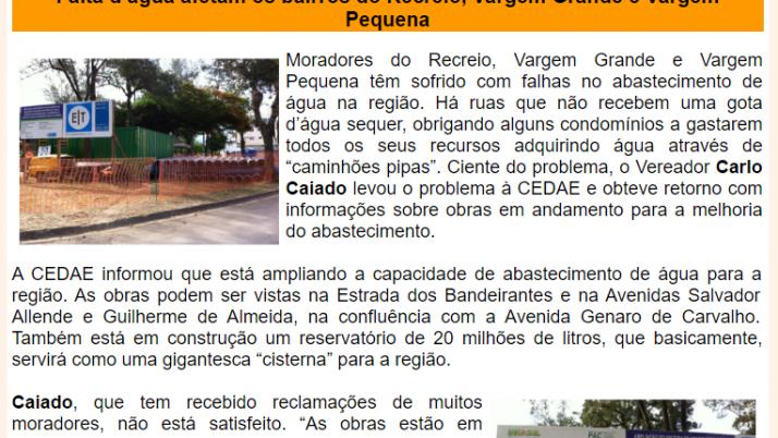 Ver. Carlo Caiado – Diário do Recreio 03/2013
