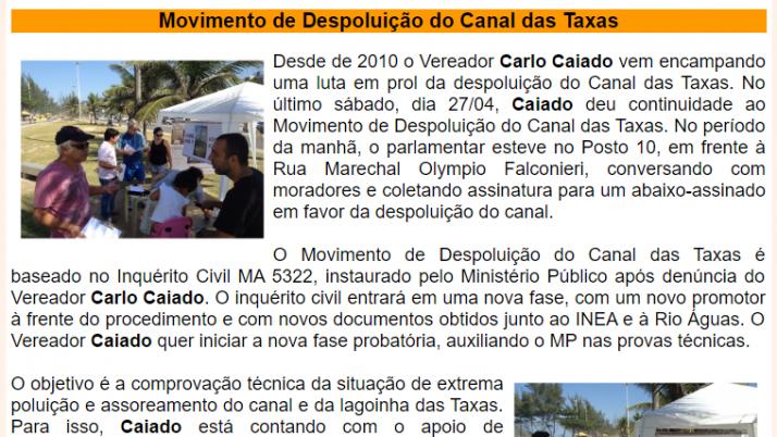 Ver. Carlo Caiado – Diário do Recreio 04/2013