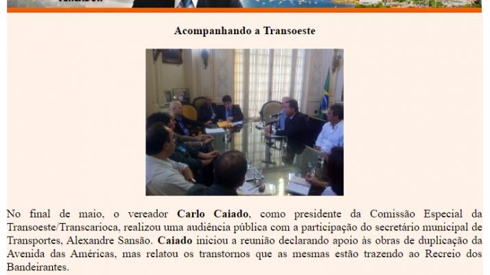 Ver. Carlo Caiado – Diário do Recreio 06/2011