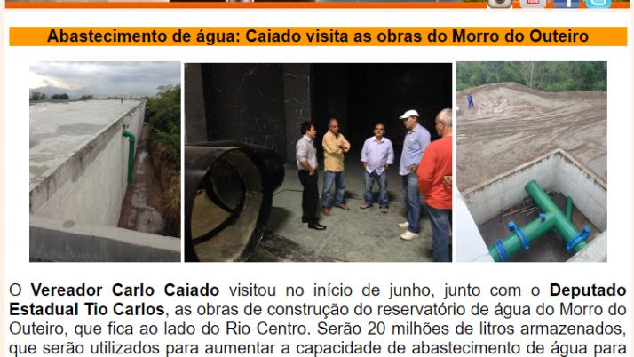 Ver. Carlo Caiado – Diário do Recreio 06/2015