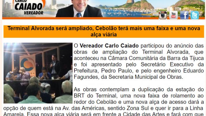 Ver. Carlo Caiado – Diário do Recreio 09/2015