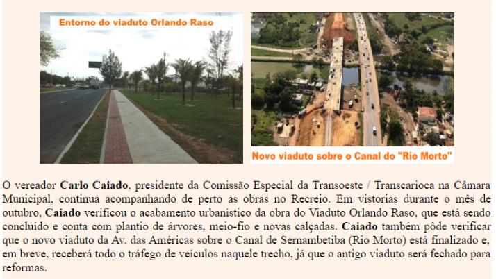 Ver. Carlo Caiado – Diário do Recreio 10/2011
