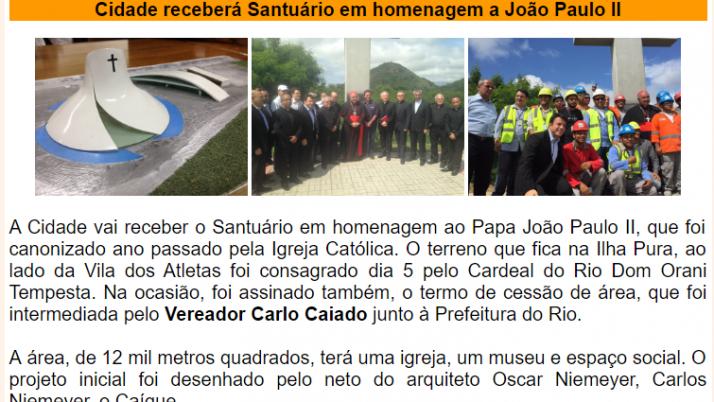 Ver. Carlo Caiado – Diário do Recreio 11/2015