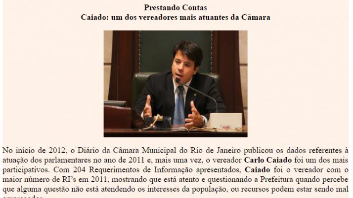 Ver. Carlo Caiado – 01/2012