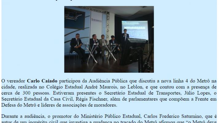 Ver. Carlo Caiado – 03/2012