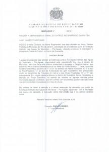 Indicação Legislativa Canal do Catruz Guaratiba