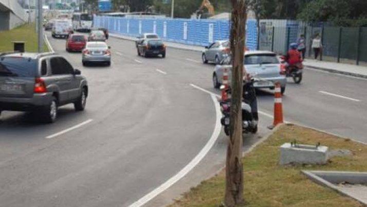 Ampliação de pista acaba com engarrafamentos na Ponte do Itanhagá