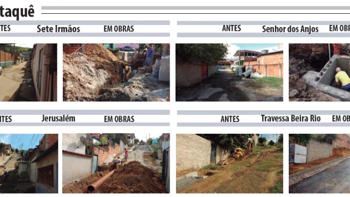 Moradores comemoram chegada de urbanização e saneamento