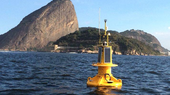 Boias oceanográficas na costa do Rio