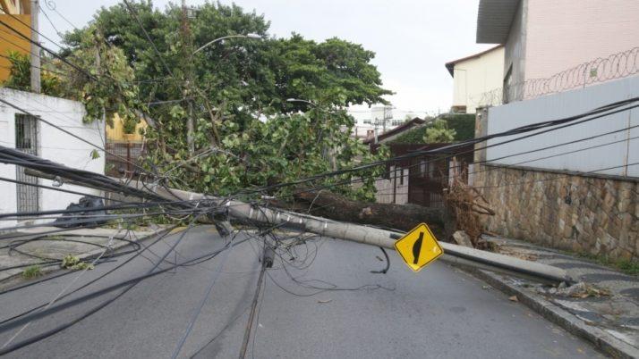 Caiado cobra da Light medidas para minimizar os estragos causados pelas chuvas