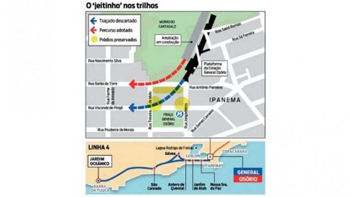 Metrô: obra milionária para não desalojar em área nobre